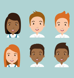Group of students characters vector