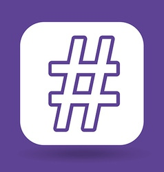 Hashtag design vector