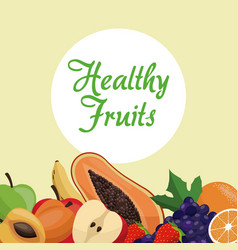 Healthy fruit nutrition concept vector
