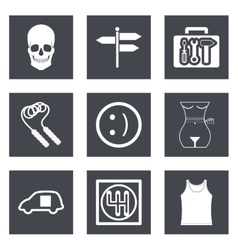 Icons for web design set 28 vector