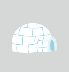 igloo ice house in flat design vector image