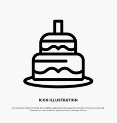Indian cake day country line icon vector