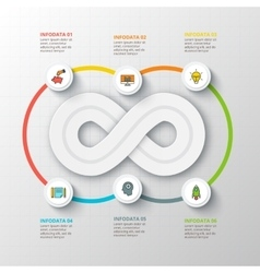 Infinity element for infographic vector