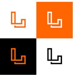 Initial letter l logo design template elements vector