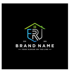 Letter er home logo design vector