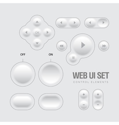Light Web UI Elements Design vector