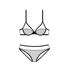 lingerie icon isolated on white background vector image