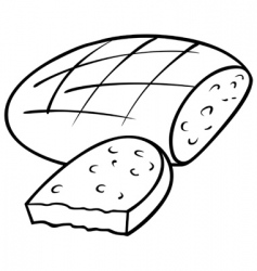 Loaf of bread vector