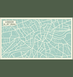 london map in retro style vector image