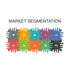 Market segmentation cartoon template with flat vector