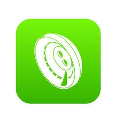 men clothes button icon green vector image