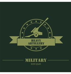 Military logo badges Cannon Graphic template vector