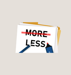 Minimalism less is more paradox concept avoid vector