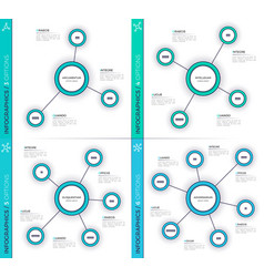 Minimalistic creative 3-6 infographic charts vector