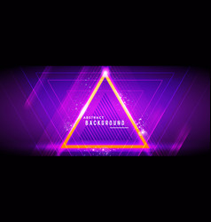Neon glowing hi-tech abstract future background vector