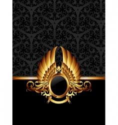 ornate frame with golden label vector image vector image