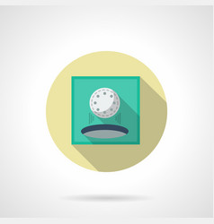play golf flat round icon vector image