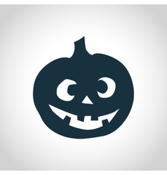 Pumpkin simple silhouette vector