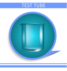scientific glassware test tube gradient round icon vector image