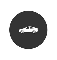 sedan car icon in modern style for web site and vector image
