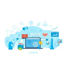 seo optimization market research analysis vector image
