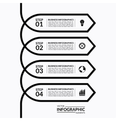 Simple infographic arrow template with 4 options vector image