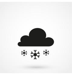 Snow clouds icon vector