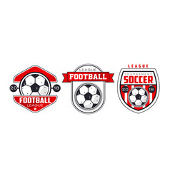 Soccer or football badges or labels set vector