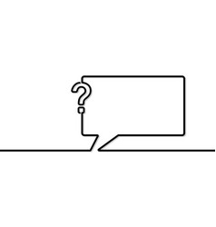 speech bubble in line art vector image