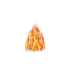 Stylized fire design element vector