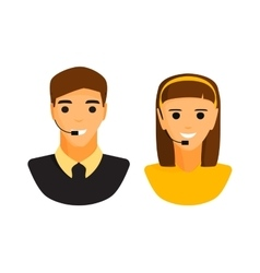 Support boy and girl faces vector image