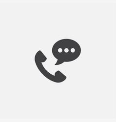 telephone and chat bubble linear icon vector image