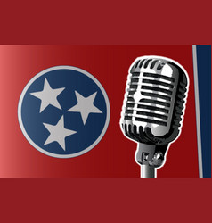 Tennessee flag and microphone vector