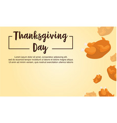 Thanksgiving day theme card style vector