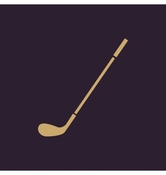 The golf icon Game symbol Flat vector