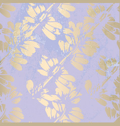 Trendy floral gold foil patina blush background vector