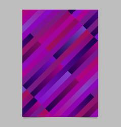 trendy geometrical colorful diagonal stripe flyer vector image