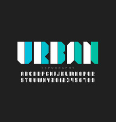 urban style font design alphabet letters and vector image
