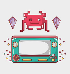 videogame play game electronic simutalor vector image