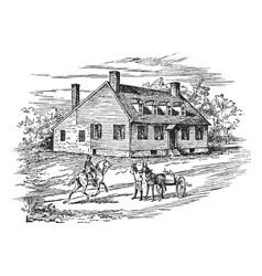 washingtons house in fredericksburg vintage vector image