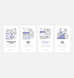 web development - modern line design style vector image