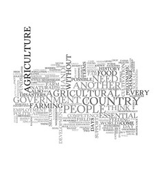 Why is agriculture essential text word cloud vector