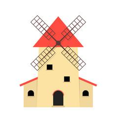 windmill like production of organic food vector image