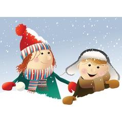 Winter snow games vector image