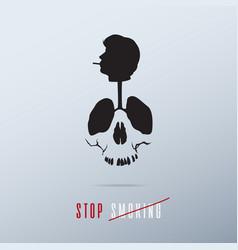 World no tobacco day poster banner design vector