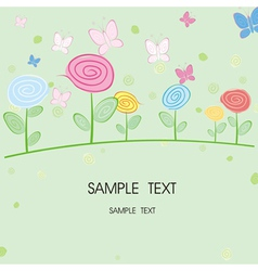 abstract floral card vector image vector image