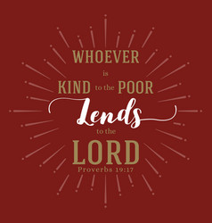 Bible quote from proverbs vector
