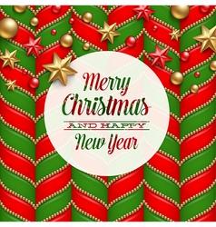 Christmas holidays greetings vector image vector image