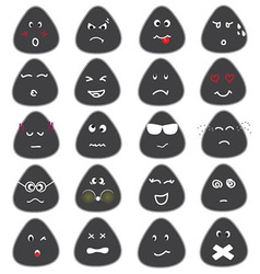 Cute Emotion Icons Set vector image