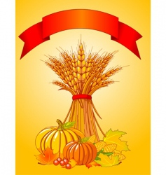 harvest background vector image vector image
